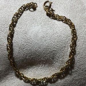"""9"""" Gold Tone Link bracelet"""